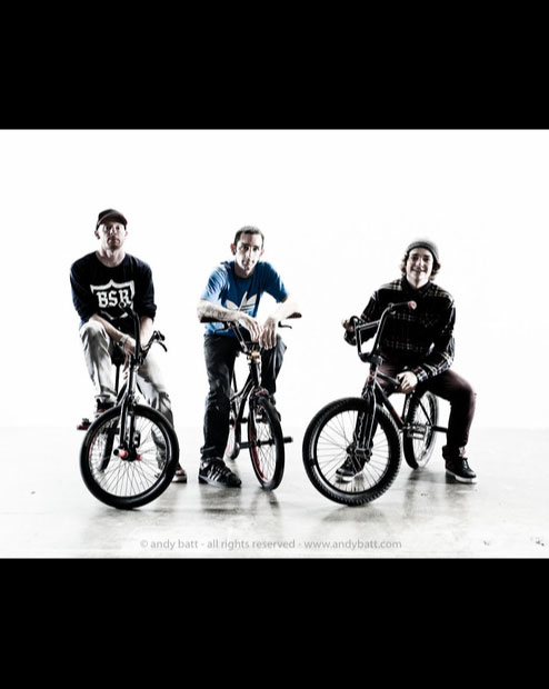BMX riders Anthony, Codie and Patrick